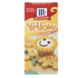 McCormick Yellow Food Color