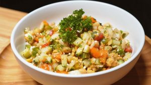 Chopped Chickpea Salad Recipe