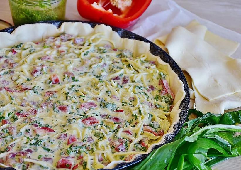Ham and Veggie Quiche Recipe