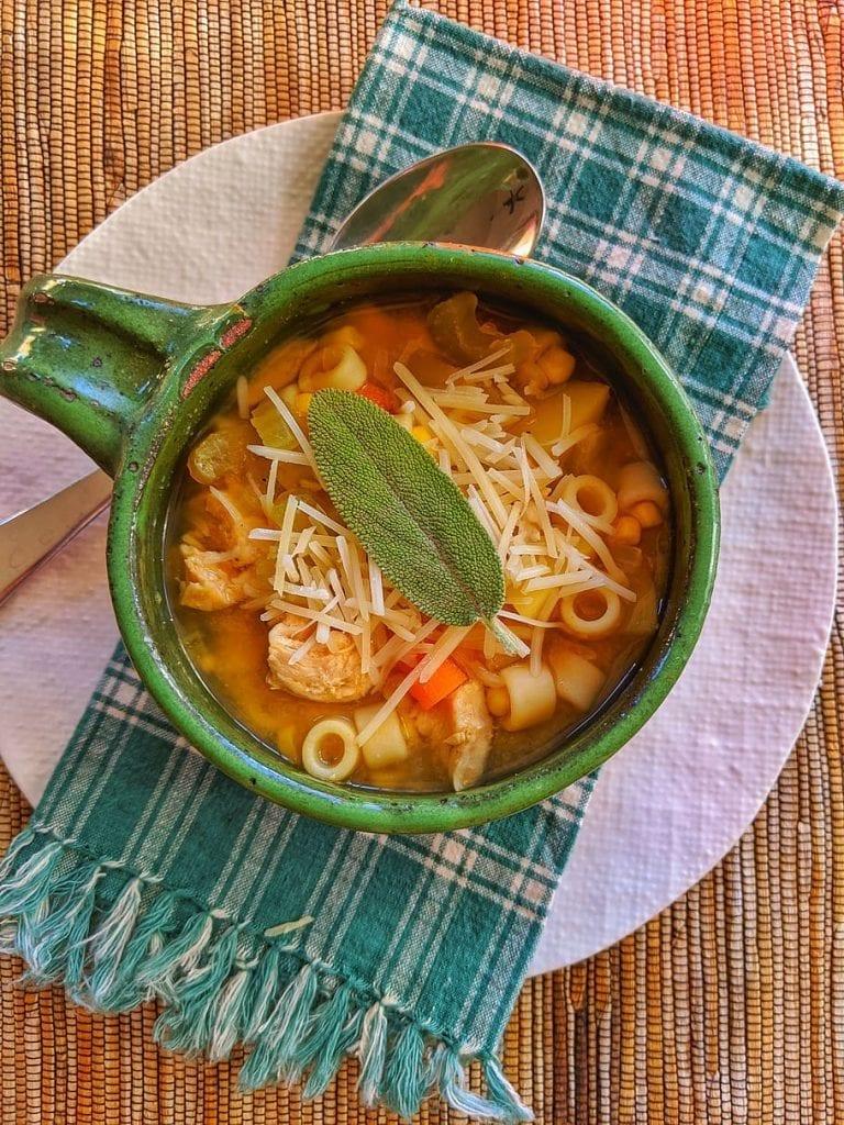 Chicken Pasta Soup Recipe