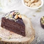 chocolate beet cake with avocado frosting