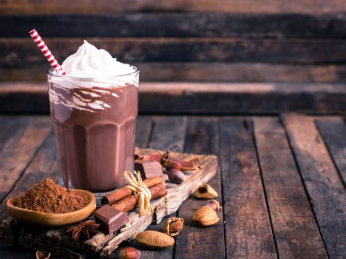In-N-Out Chocolate Milkshake Recipe, how to make chocolate milkshake, milkshake with vanilla ice cream