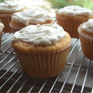 Spiced Sweet Potato Jumbo Cupcakes with Vanilla Frosting Recipe