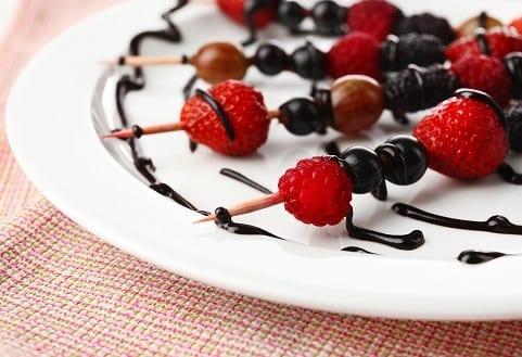 Sweet Grilled Chocolate Fruit Kabob Skewers Recipe