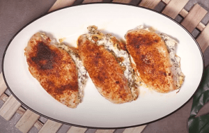 Spinach-Stuffed Chicken Breast with Cream Cheese Recipe