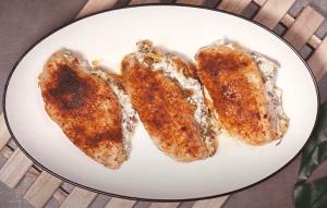 Spinach-Stuffed Chicken Breast with Cream Cheese Recipe