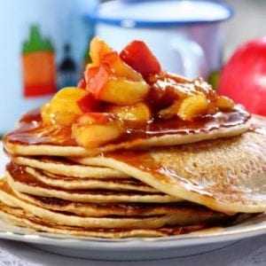 Apple Pecan Pancake with Apple Spice Syrup Recipe