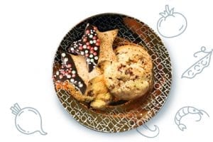 Cinnamon Caramel Banana Ice Cream Sandwiches by sweetasacookie.com #PBandG #Ad #christmas