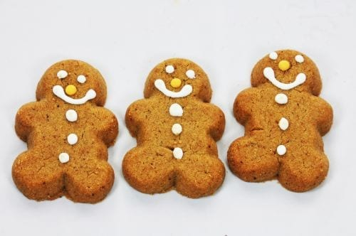 Super Simple Gingerbread Cookies | Cake mix makes these cookies super simple to make! via sweetasacookie.com #christmas #cookies