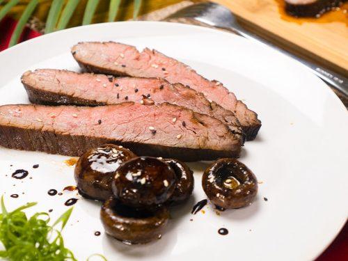 Teriyaki Mushrooms and Steak