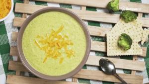 Copycat Potbelly's Creamy Cheddar Broccoli Soup Recipe