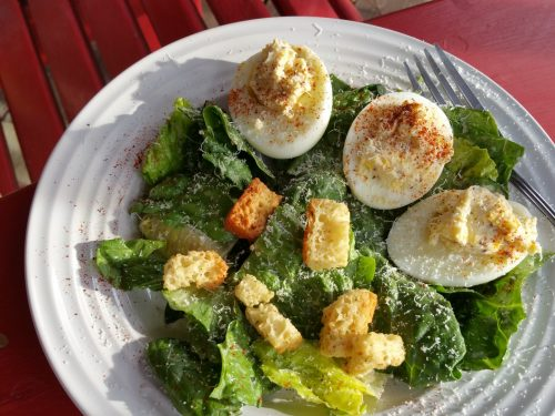 delicious blue cheese deviled egg