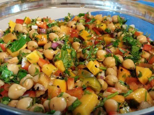 delicious chick pea salad
