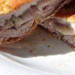 delicious chicken cordon bleu sandwich