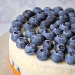Easy Blueberry Cake with Cream Cheese Icing Recipe
