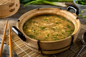 Egg Drop Soup with Mushrooms and Scallions Recipe