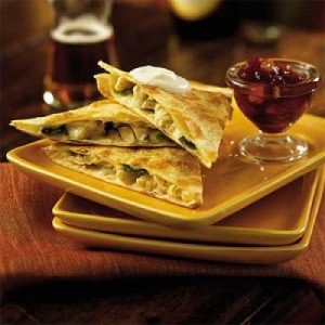 Jack Quesadillas with Cranberry Salsa Recipe
