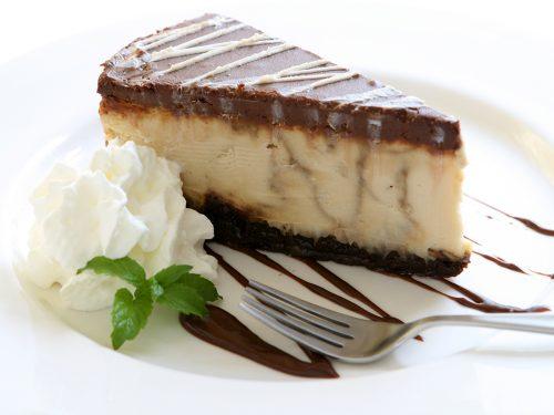 sweet mocha swirl cheesecake
