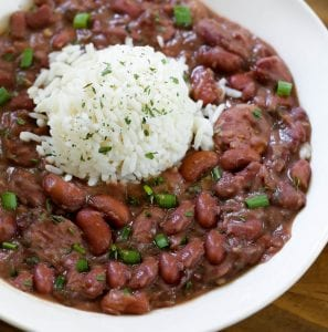Red Beans and Rice with Ham Hocks and Kielbasa Sausage Recipe