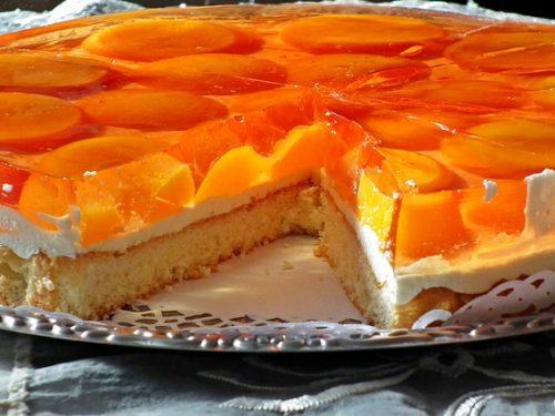 sweet orange cream cake pie