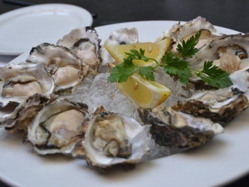 delicious oysters with chadonnay