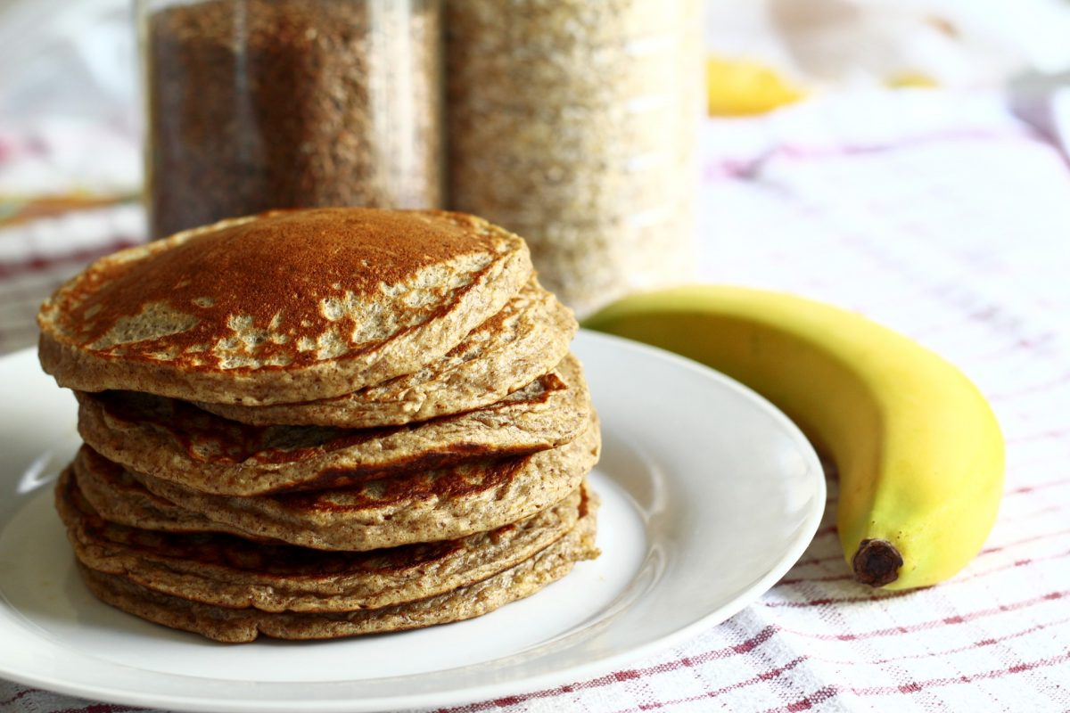 banana pancake, healthy food