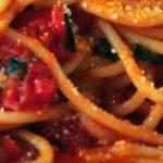spicy chicken and spaghetti squash skillet