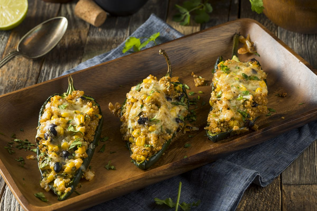 Chicken and Quinoa Stuffed Poblano Peppers main