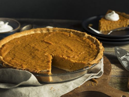 sweet potato pue with gingersnap streusel