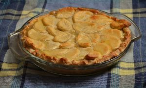 Easy Custard Peach Pie