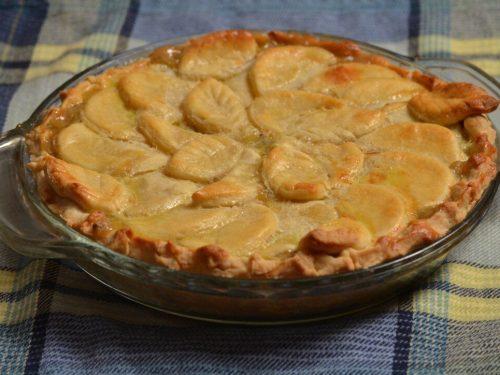 easiest custard peach pie