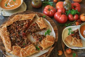 Slow Roasted Tomato Eggplant Galette Recipe