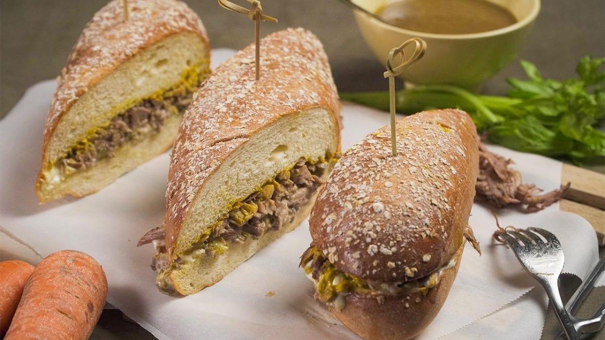 Copycat Portillo's Italian Beef Sandwich Recipe