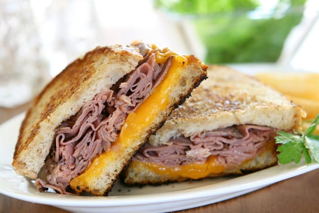 German Roast Beef Sandwich Recipe - gourmet deli roast beef sandwich with horseradish and cheese