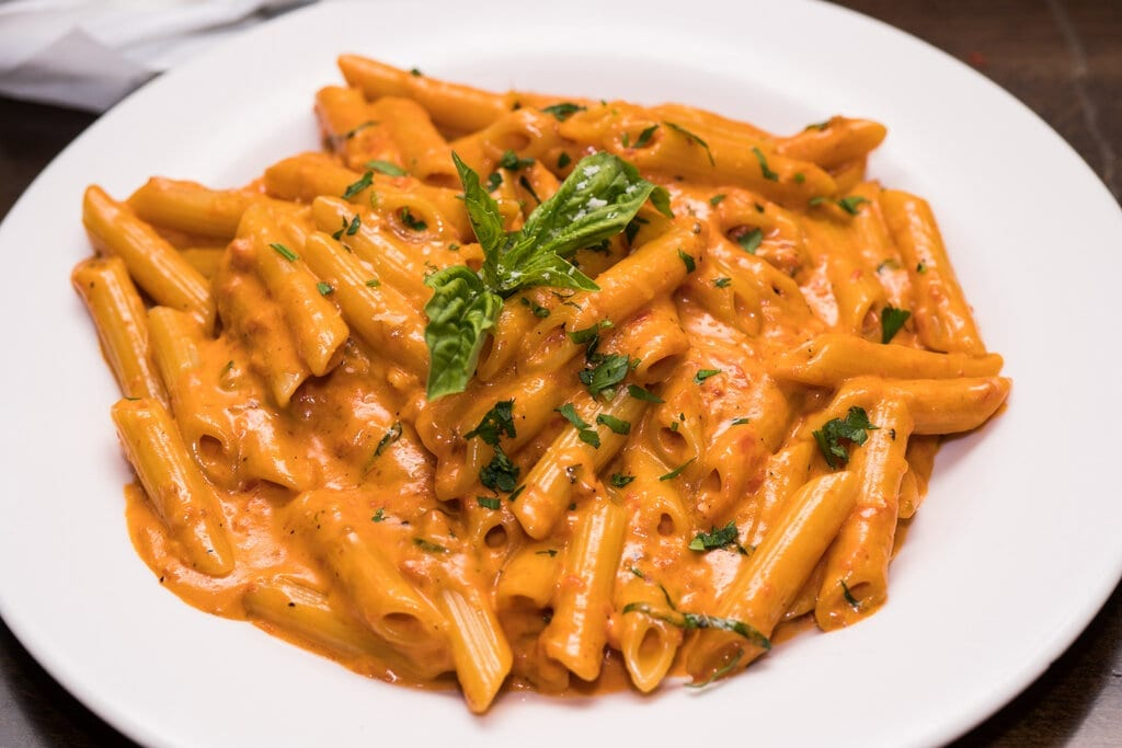 Penne Rosa Recipe (Noodles and Co. Copycat), noodles and company vegetarian penne rosa pasta with creamy marinara sauce