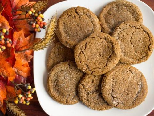 Soft Pumpkin Cookies Recipe, freshly baked round chewy pumpkin cookies