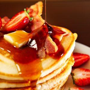 Bacon Buttermilk Pancakes Recipe