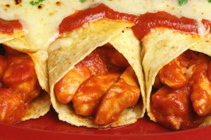 Buffalo Chicken Enchiladas with Creamy Ranch Sauce Recipe
