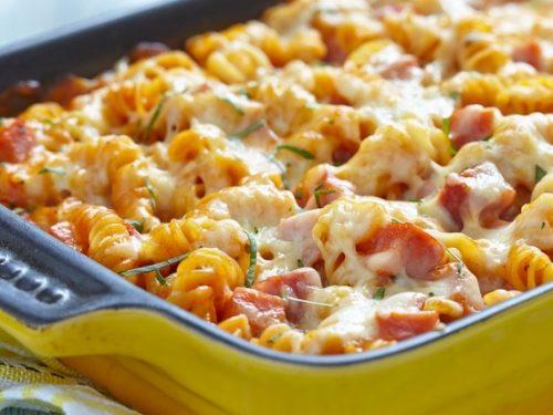 ham and pasta bake