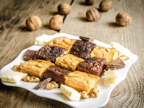 Chocolate Brownie and Orange Blondie Recipe, easy fudge brownie recipe and brown sugar blondie recipe