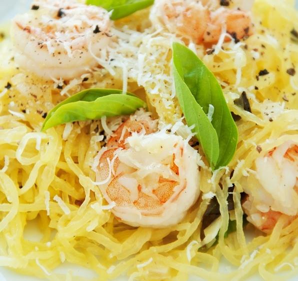 Crockpot Spaghetti Squash with Shrimp Recipe