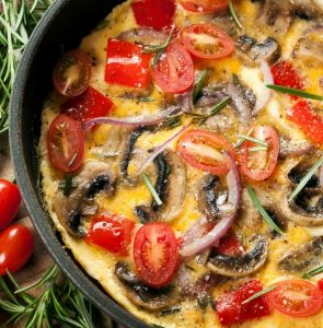 Easy Tomato and Mushroom Omelet Recipe