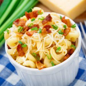 Gooey Macaroni Salad with Crumbled Bacon Recipe