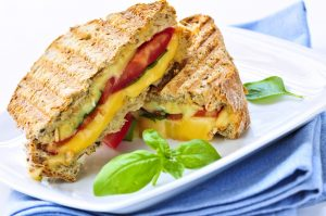 Grown-Up Grilled Cheese With Tomatoes & Spinach Recipe