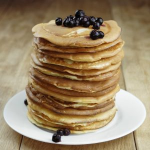 Lemon Blueberry Whole Wheat Pancakes Recipe