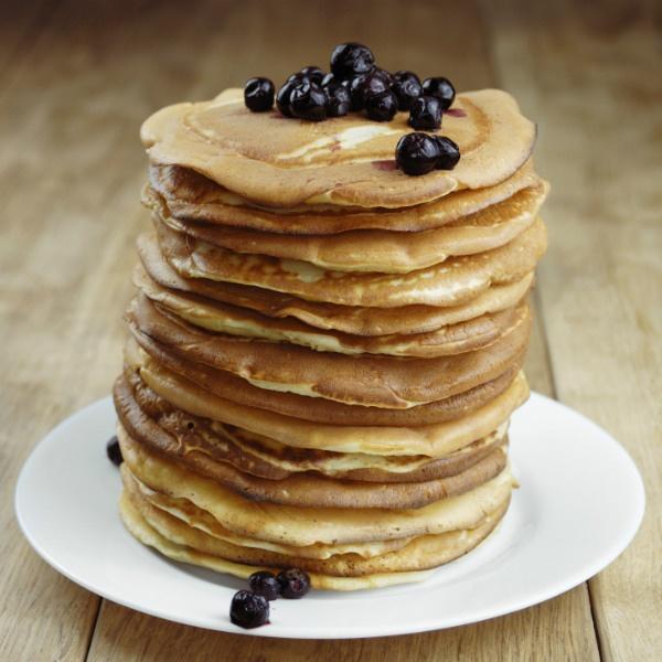Lemon Blueberry Whole Wheat Pancakes Recipe