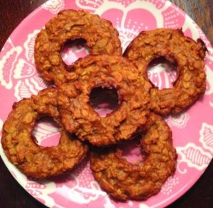 Maple Pumpkin Peanut Butter Oat Donuts Recipe
