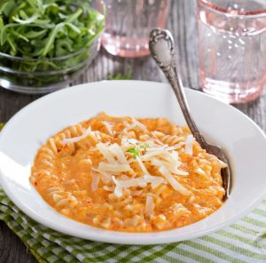 Pasta with Creamy Vodka Sauce Recipe