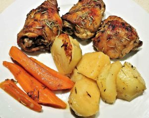 Roasted Potatoes, Carrots, and Chicken Breasts Recipe