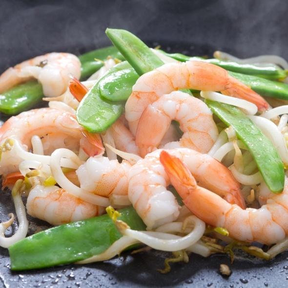 shrimp and pea pod stir fry